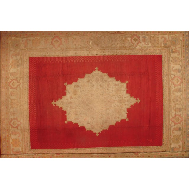 "Pasargad NY Antique Turkish Oushak Hand-Knotted Rug -- 12'6"" X 16' For Sale - Image 4 of 4"