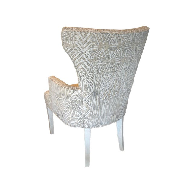 Transitional Fremarc Designs Upholstered Arm Chair (2 Available) *Priced Individually For Sale - Image 3 of 4
