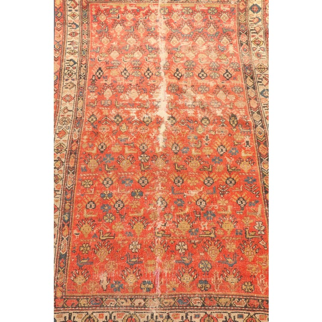 Stunning early 20th century hand knotted rug, made in Iran. Rug is beautifully worn in. Excellent colors. No tag.
