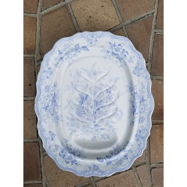 White Christmas Turkey Asiatic Pheasant Carving Platter For Sale - Image 8 of 8