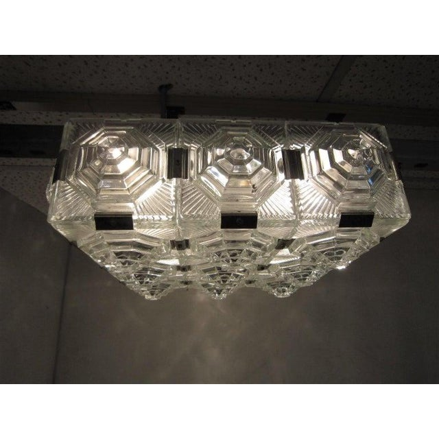 Art Deco Revival Flush Mount Glass Ceiling Squares - 2 Available For Sale - Image 9 of 13