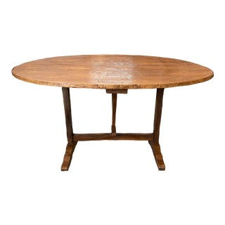 French Tilt-Top Wine Tasting Table For Sale