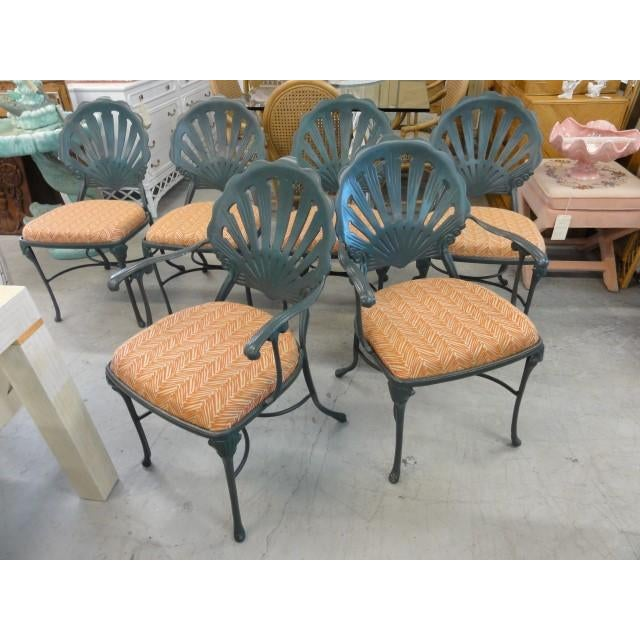Vintage Shell Back Chairs - Set of 6 - Image 8 of 11