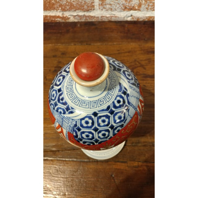 17th Century Japanese 17th Century Imari Rare Porcelain Bottle With Stopper C1660 For Sale - Image 5 of 9
