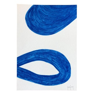 Modern Blue Painting by Tony Curry For Sale