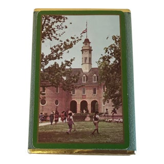 Vintage Congress Williamsburg Virginia Playing Cards in Velvet Box For Sale
