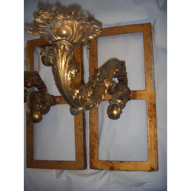 Ornate Bronze Wall Sconces - A Pair - Image 3 of 11
