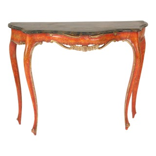 Italian Louis XV Style Painted Console Table For Sale
