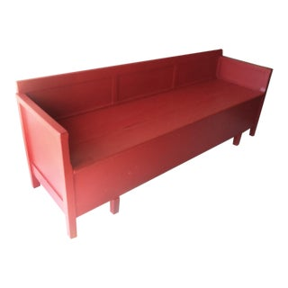 Antique Painted Red Swedish Daybed/Bench/Child's Bed For Sale