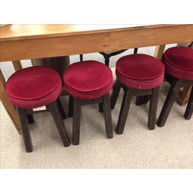 Mid-Century Modern English Bar Stools -- Set of 6 For Sale - Image 3 of 5