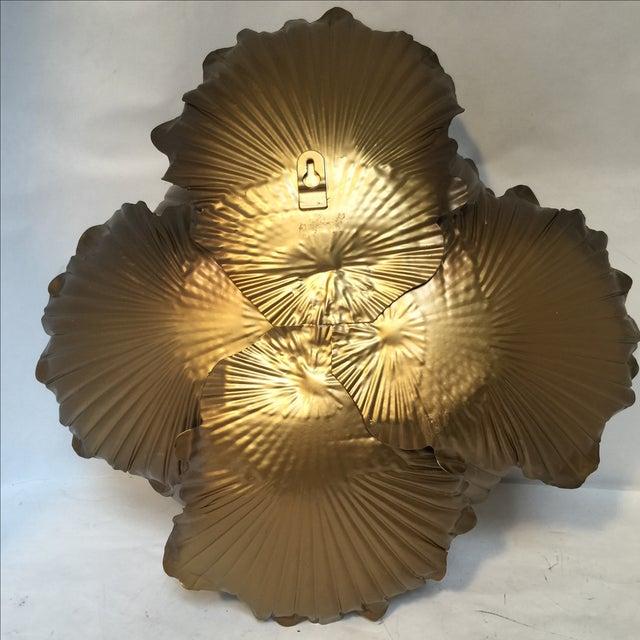 Gold Flower Wall Decor - Set of 3 | Chairish