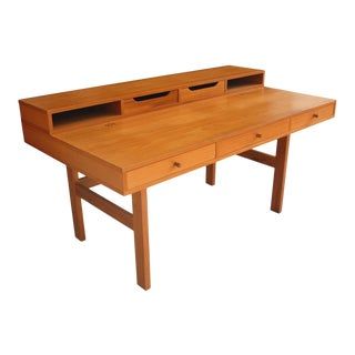1960s Peter Løvig Nielsen for Laurits M Larsen Scandinavian Modern Teak Desk For Sale