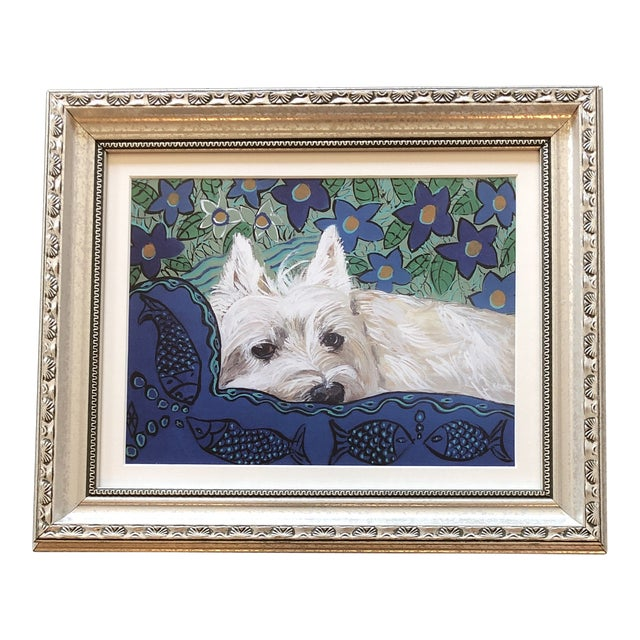 Contemporary Westie Dog Print by Judy Henn For Sale