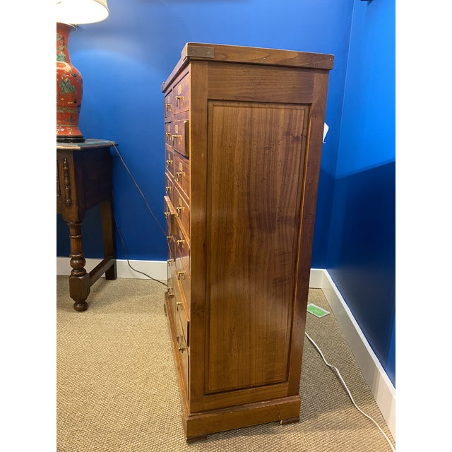 French French Oak Apothecary Cabinet For Sale - Image 3 of 13
