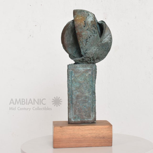 1960s Myrna M Nobile Bronze Abstract Sculpture #6, Mid Century Period For Sale - Image 5 of 10