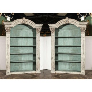 Louis XIV French Carved Painted Bookcases with Antique Elements - A Pair Preview
