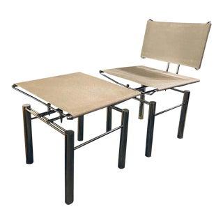Modern Hans-Ullrich Bitsch Series 8600 Chair and Ottoman For Sale