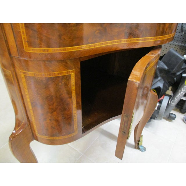 Egyptian Inlaid Wood Three Leg Flip-Up Mirror Top Vanity Dressing Table For Sale - Image 11 of 13