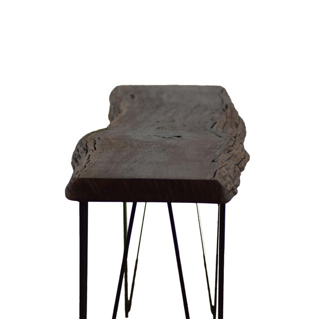 Contemporary Live Edge Console Table For Sale - Image 3 of 9