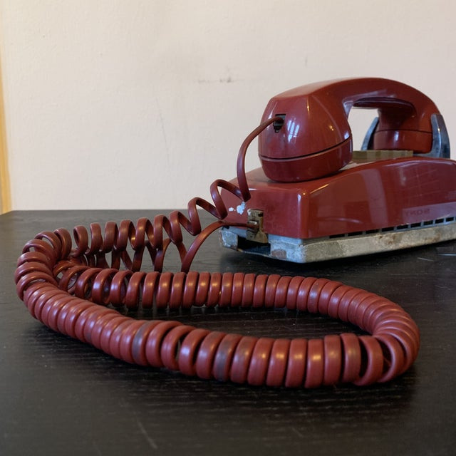 Vintage Red Push Button Telephone For Sale - Image 10 of 11