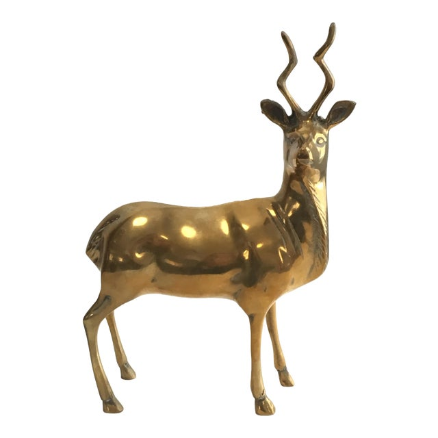 Brass Stag Statue - Image 1 of 7