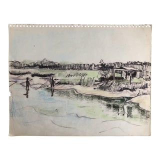Pawley's Island South Carolina Lowcountry Scene, 1966 For Sale