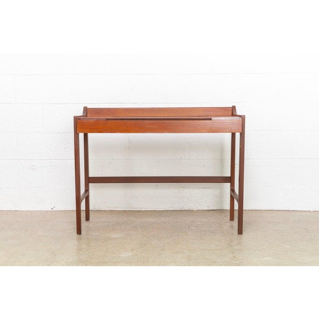 Danish Modern Danish Modern Teak Vanity Table For Sale - Image 3 of 12