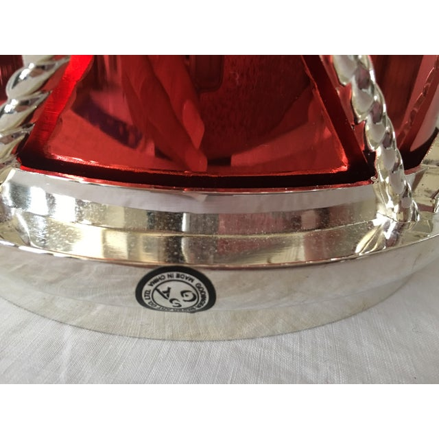 Traditional Godinger Silverplate Drum Ice Bucket For Sale - Image 3 of 6