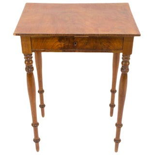French Walnut and Fir Renaissance Revival Occasional Table For Sale