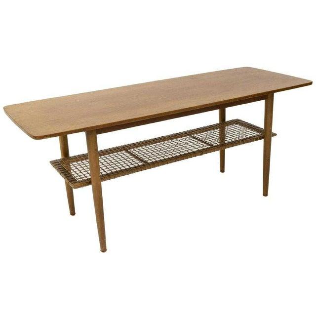 Mid-Century Modern 1950s Vintage Danish Mid-Century Modern Teak Coffee Table For Sale - Image 3 of 6