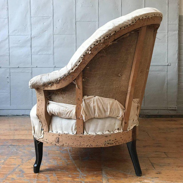 Small French Napoleon III Settee With Tufted Back and Cabriole Legs - Image 4 of 11
