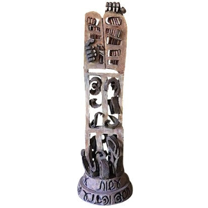 Primitive Cast Iron Sculpture For Sale
