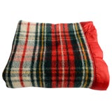 Image of Pearce Red Plaid Blanket For Sale