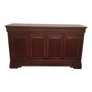 Transitional Thomasville Cinnabar Buffet For Sale
