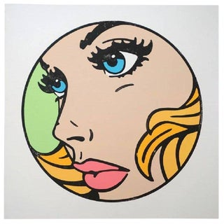 "Mitch McGee ""All That I Can"" Pop Art Limited Edition Woodcut Print on Paper For Sale"