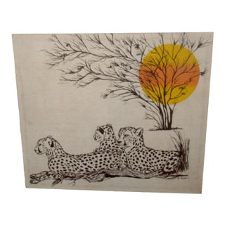 Fabric Wall Art by E. Taylor For Sale
