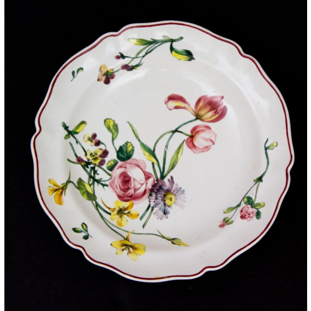 French Country Antique French Faience Veuve Perrin Pottery Bowls - Set of 4 For Sale - Image 3 of 8