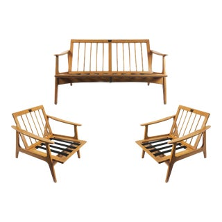 "Midcentury Livingroom Set by ""Silleria La Malinche"" - 3 Pieces For Sale"