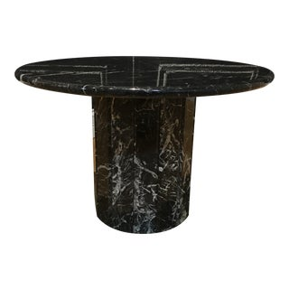 Modern Black Marble Two-Piece Side Table For Sale