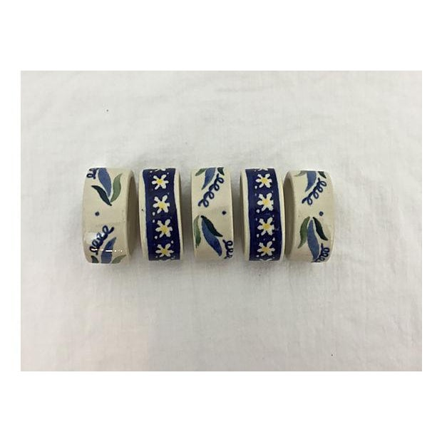 Hand-Painted Porcelain Napkin Rings - Set of 5 - Image 3 of 8