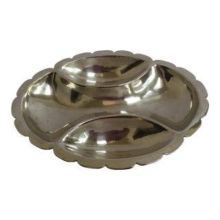 Ortega Silver Lobed Dish
