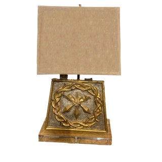 18th Century Tabernacle Door as a Lamp For Sale
