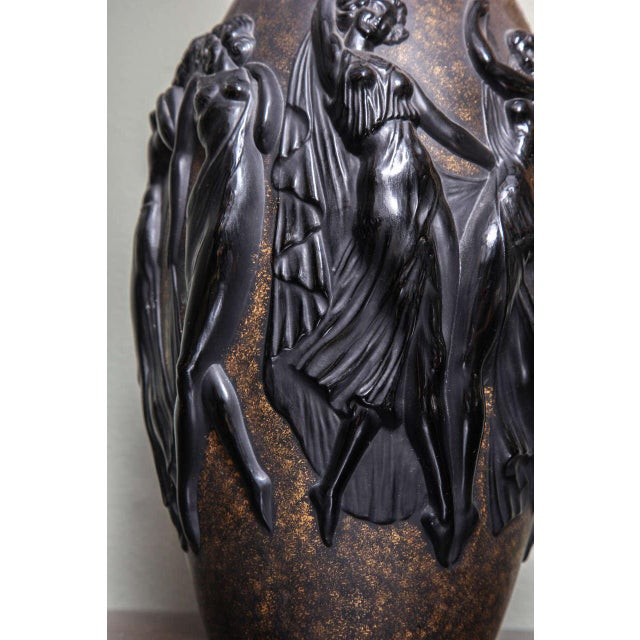 Sabino Art Glass Art Deco Vase by Sabino For Sale - Image 4 of 9