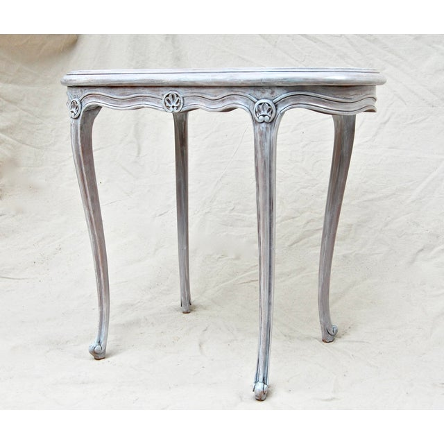 French Kidney Shape Marble Top Table For Sale - Image 4 of 12