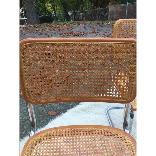 Marcel Breuer-Style Cane Chairs - Set of 4 - Image 4 of 6