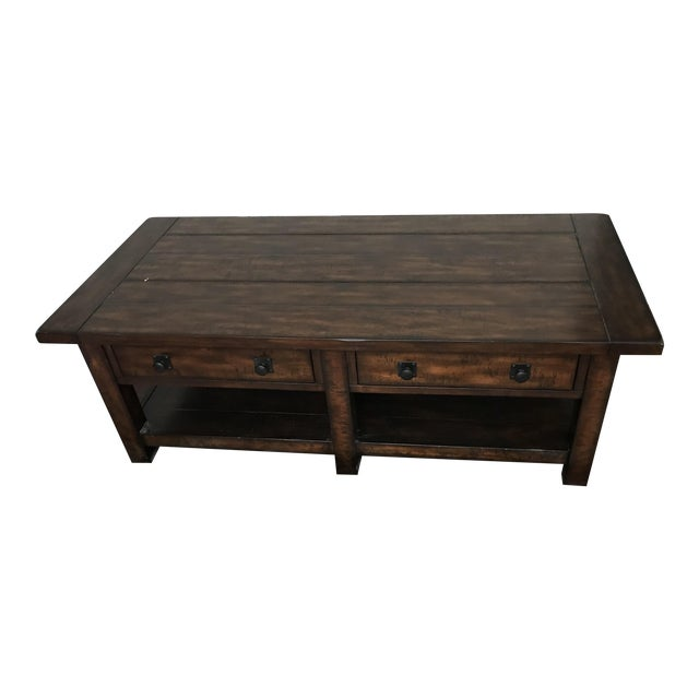 Pottery Barn Benchwright Coffee Table Chairish - Pottery barn benchwright end table