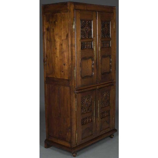Oak 19th Century Jacobean Carved Oak Wardrobe For Sale - Image 7 of 12