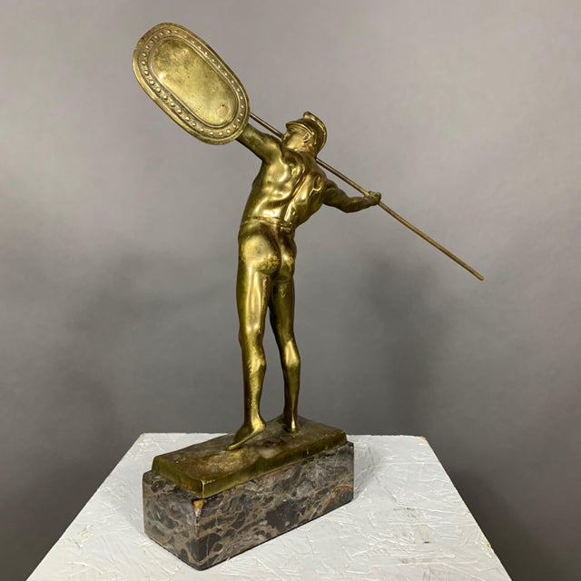 Metal F. Thierman Bronze Gladiator Sculpture C.1900, Germany For Sale - Image 7 of 10