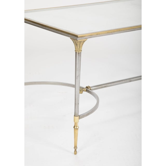 Maison Charles Steel & Bronze Glass Top Coffee Table For Sale - Image 11 of 13