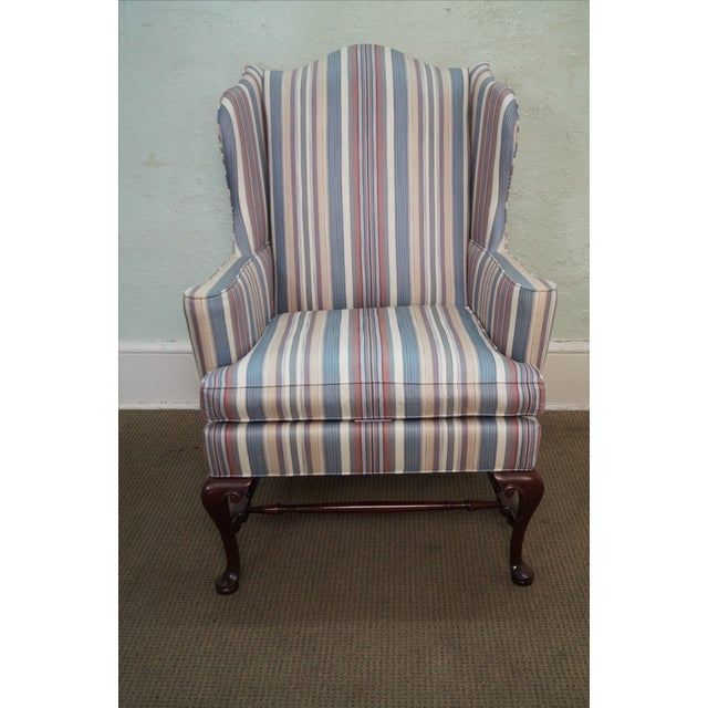 Hickory Chair Solid Mahogany Queen Anne Wing Chair - Image 2 of 10